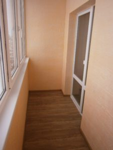 внутренняя отделка балкона, штукатурка недорого харьков
