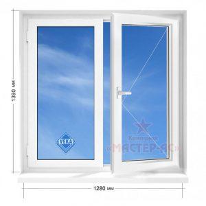 двухстворчатое окно пластиковое veka в 5-этажку цена харьков