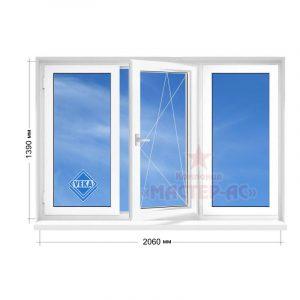 трехстворчатое окно металлопластиковое veka в 5-этажку купить недорого харьков