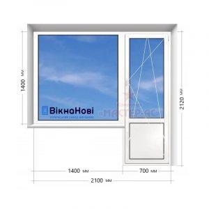 балкон пластиковый в 16-этажку Вікна Нові купить Харьков