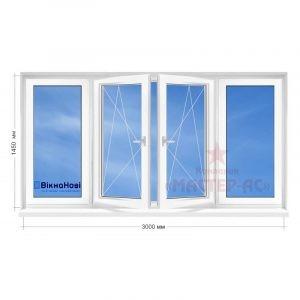 остекление балкона рама в 5-этажку Вікна Нові заказать харьков