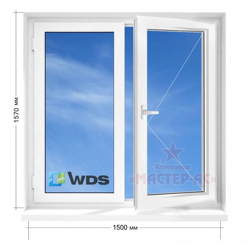 пластиковое окно вдс двухстворчатое в 9 и 12-этажку чешка купить харьков
