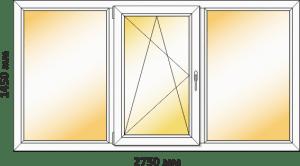 окно в спальню в 12-этажку чешка заказать