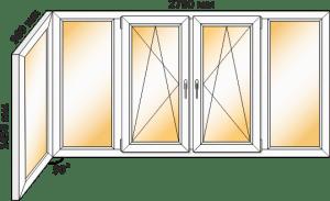 рама балконная в 12-этажку чешка купить